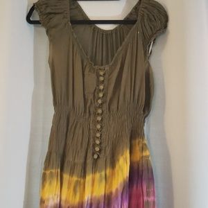 Dresses & Skirts - Hand made in India OOAK tie dye cotton dress